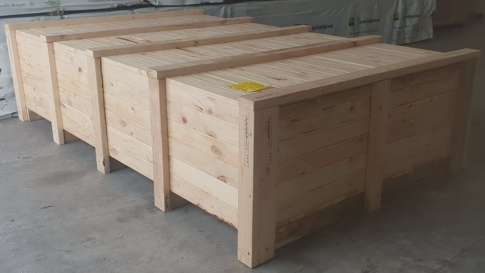 One of our timber crates in Newcastle